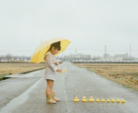 梅雨・女の子